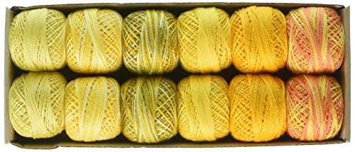 Valdani TIYPC8SMPLR Ball Sz8 73yd 12 Colors Two in Yellow Needleart, Floss, Pearl Cotton Various