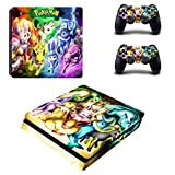 Vanknight PS4 Slim Console Dualshock Controllers Skin Set Vinyl Decal Sticker for Playstation 4 Slim Console Review