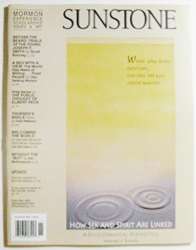 Sunstone Magazine, November 2001, Issue 120