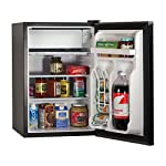 BLACK+DECKER BCRK25V Compact Refrigerator Energy Star Single Door Mini Fridge with Freezer, 2.5 Cubic Feet, VCM 11 2 Full Width Glass Shelves 2 Full Width Door Shelves accommodate 2 Liter and Tall Bottles Adjustable Thermostat Control and Leveling Legs offer ultimate versatility