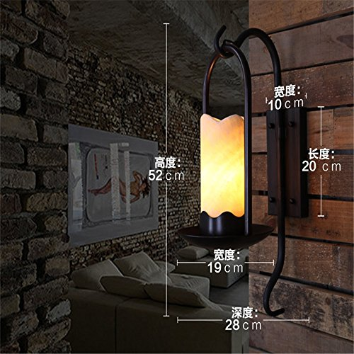 (LED Wall Lights Wall Sconce Light Fixture Up Down Decorative Wall Lighting The Village Wall Lights Antique Staircase with Wrought-Iron, Marble Living Room Creative Garden Lamp)