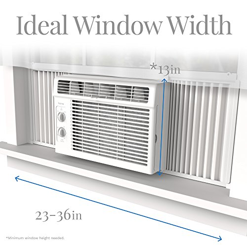 home 5000 btu window mounted air conditioner compact 7 speed window ac unit small quiet. Black Bedroom Furniture Sets. Home Design Ideas