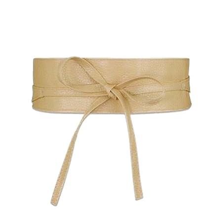 530cce397f5 Amazon.com: Women Belt Wide Pu Leather Designer High Waist Lace Up ...