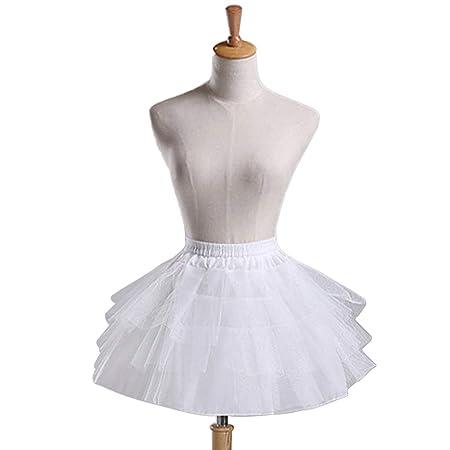 Haptian Mujeres Niñas Vintage Multilayer Plisado Enagua Ballet ...