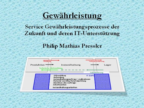 Download Future Processes of Warranty (German Edition) Pdf