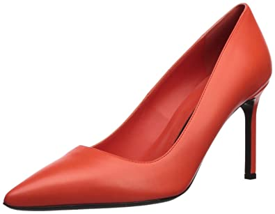 c7aeaaac0e Via Spiga Women's Nikole Pump, Hot Orange Leather, ...