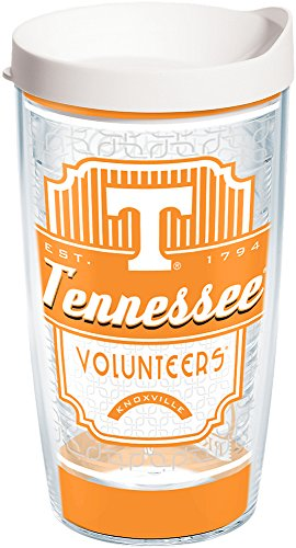 (Tervis 1229118 Tennessee Volunteers Pregame Prep Tumbler with Wrap and White Lid 16oz, Clear)