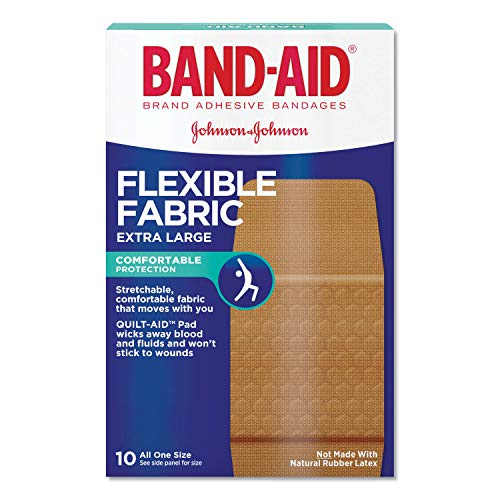 Band-Aid Brand Flexible Fabric Adhesive Bandages for Flexible Protection and Wound Care of Minor Cuts and Scrapes, Extra Large Size, 10 ct (Pack of 3)