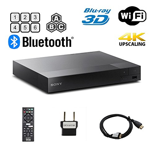 Sony BDP-S6700 Multi Region Blu-ray DVD Region Free Player 110-240 volts; Dynastar HDMI Cable & Dynastar Plug Adapter Package 4K / Wifi / 3D/ Smart Region Free by Dynastar
