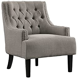Homelegance Charisma Accent/Arm Chair, Taupe Fabric