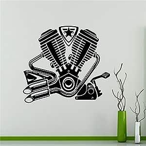 yaoxingfu Motor Motor Tatuajes de Pared Bici Motor Vinilo Pegatina ...