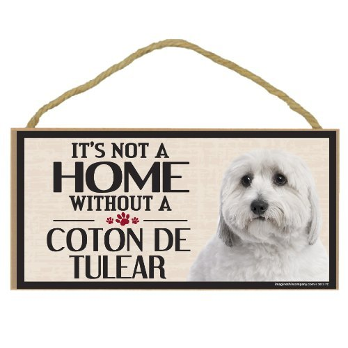 Imagine This Wood Sign for Coton De Tulear Dog Breeds by Imagine This