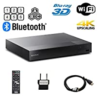 Sony BDP-S6700 Multi Region Blu-ray DVD Region Free Player 110-240 volts; Dynastar HDMI Cable & Dynastar Plug Adapter Package 4K / Wifi / 3D/ Smart Region Free