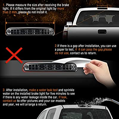 Smoked LED 3rd Brake Light Compatible with 2007-2014 Chevrolet Silverado GMC Sierra (For 2007 Models NOT Compatible with Classic Style, for 2014 Models ONLY Compatible with Classic/Old Body Style): Automotive