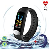 Best fitbit Blood Pressure Monitors - Fitness Tracker with ECG+PPG Heart Rate Monitor Blood Review