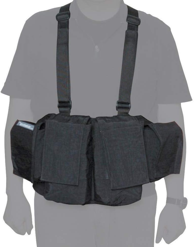 【国内正規品】newswear ニューズウェア メンズミディアムチェストベスト ブラック センターポケット(2つ):H24 × W13.5 × D6.5cm サイドポケット(2つ):H15 × W14.5 × D6.5cm 470333