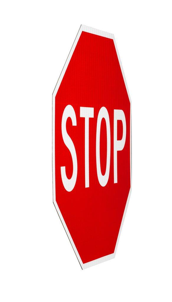 Elderlee, Inc. 9030.11 Stop Sign, MUTCD R1-1 .100 Aluminum, 30 x 30 Inch, 3M High Intensity Reflective Sheeting by Elderlee, Inc. (Image #2)