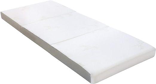 Black 4 Inch Folding Mattress Single Size Futon Foam Bed Fold Cot Free Shipping