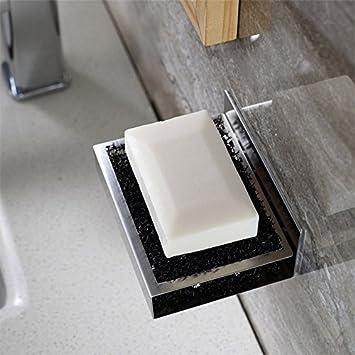 Weare Home Modern Stil Viereck Seifenhalter Seifenschale Aus 304 Edelstahl 3M Klebstoff Zur Wandmontage Ohne Bohren