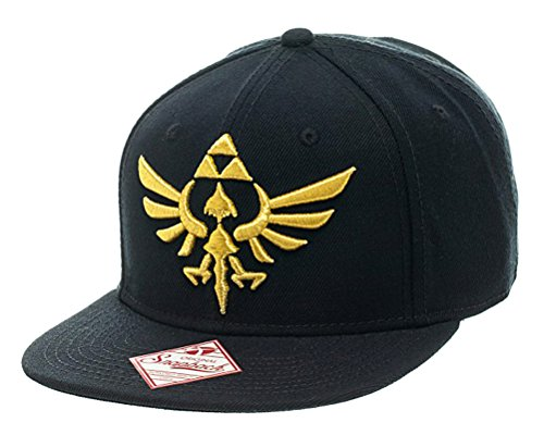 Nintendo Legend of Zelda Triforce Snapback Flatbill Hat Black
