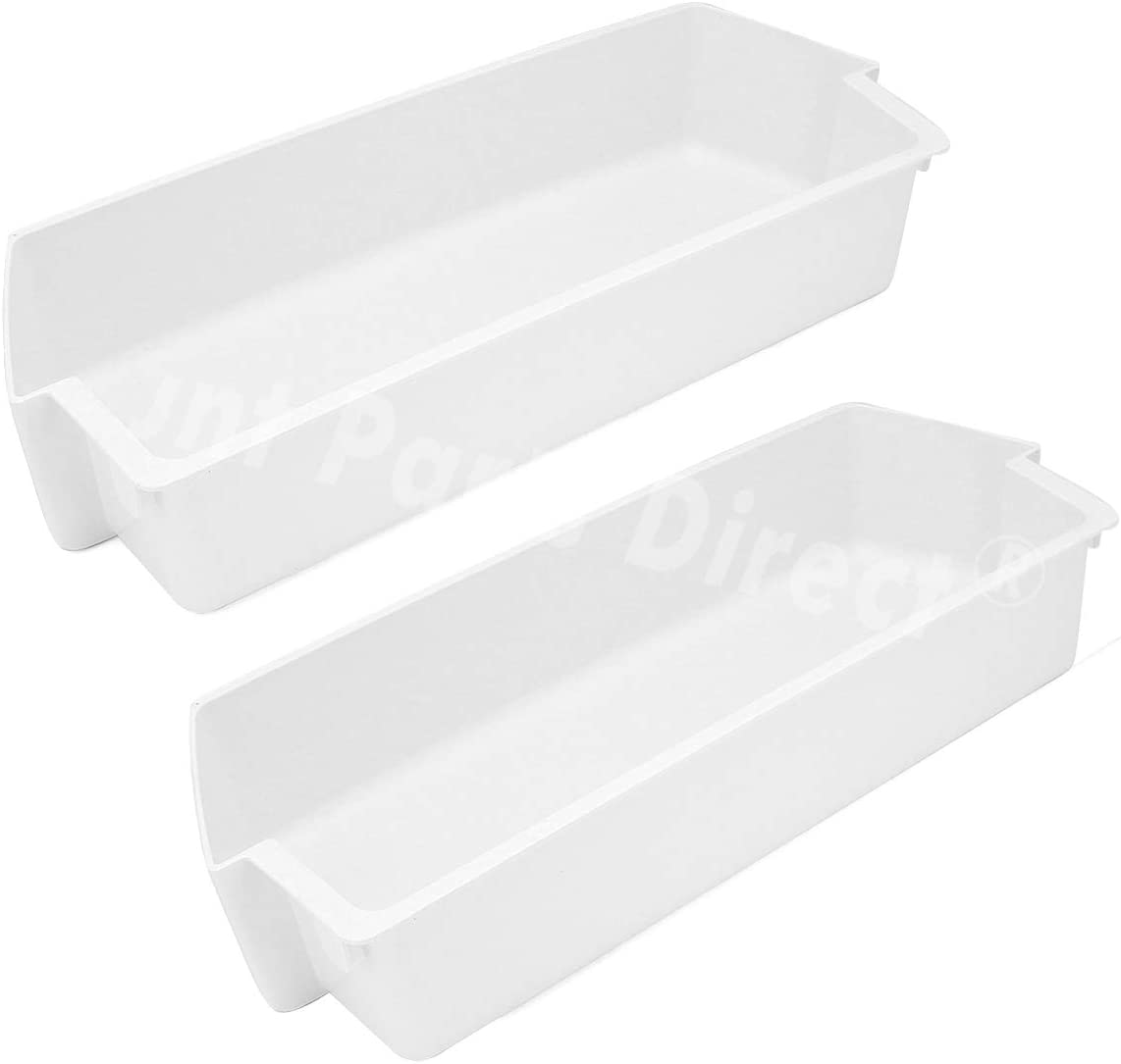 2 Pack 2187172 Door Shelf Bin for Whirlpool for Frigidaire Whirlpool Kenmore Refrigerator PS328468