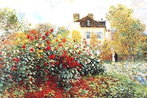 Buyartforless GICLEE The Artists Garden by Claude Monet 36x24 Art Print Poster