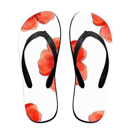 72a362cde409 80%OFF Red Blossom Simple Unisex Flip Flops Sandal Summer Beach Slippers  For Women Men
