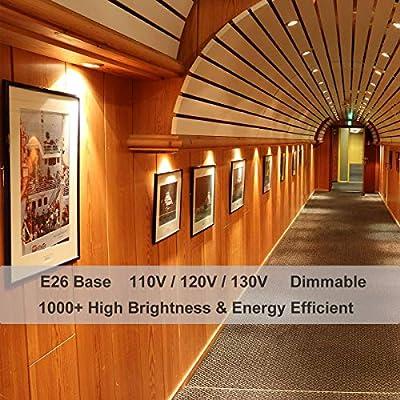 Par30 Long Neck Halogen 75w, 6PCS PAR30s 75W 120V Flood Light Bulbs, Dimmable, High Efficiency& Long Lasting Life, E26 Base, 3000K Warm White, Great for Accent Lighting, Tracking Light