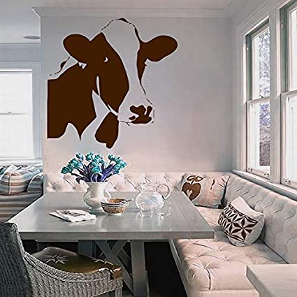 Merveilleux Wall Decals Domestic Animals Cow Head Bedroom Living Children Any Room  Design For Farms Vinyl Decal Sticker Home Decor L458     Amazon.com