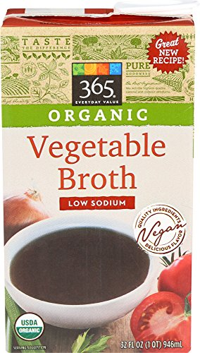 365 Everyday Value, Organic Low Sodium Vegetable Broth, 32 oz