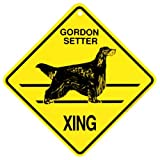 Gordon Setter Xing caution Crossing Sign dog Gift