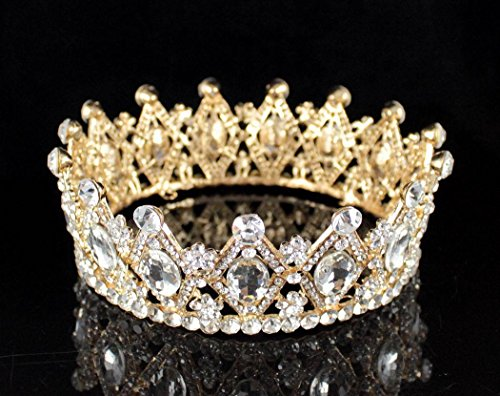 Sale For Crowns Queen (Janefashions STUNNING FULL CROWN AUSTRIAN CRYSTAL RHINESTONE TIARA PAGEANT BRIDAL T1927G)