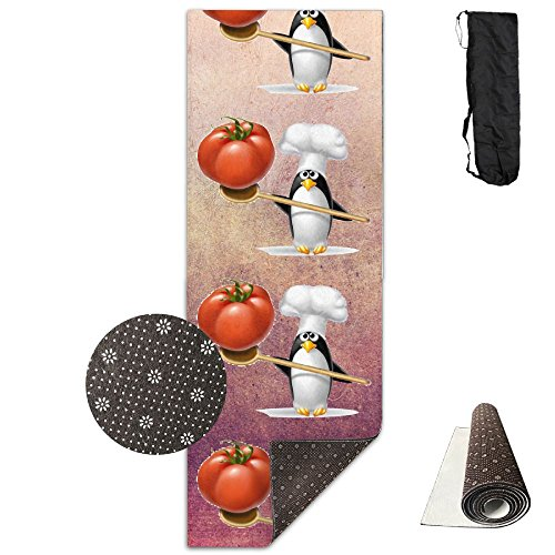USYOYOGA Breathable Yoga Mat All-Purpose Crystal Velvet Exercise With Tomato Penguin Tomato Soft Cushion