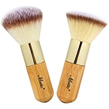 Matto Bamboo Makeup Brush Set Face Kabuki 2 Pieces - Foundation and Powder Makeup Brushes for Mineral BB Cream