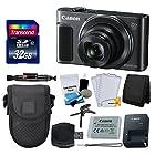 Canon PowerShot SX620 HS Digital Camera (Black) + Transcend 32GB Memory Card +