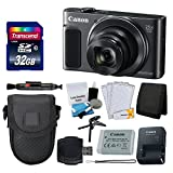 Canon PowerShot SX620 HS Digital Camera (Black) + Transcend 32GB Memory Card +