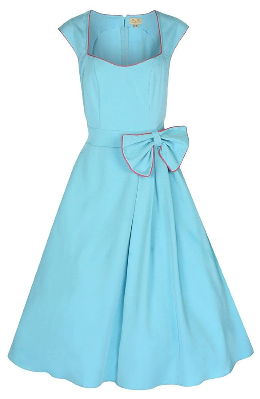 Lindy Bop \'Grace\' Classy Vintage 1950\'s Rockabilly Style Bow Swing ...
