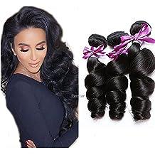 Perstar Peruvian Virgin hair Loose Wave Bundles Remy Human Hair Extension 3 bundles Uprocessed Virgin Hair Natural Color (8 10 12)