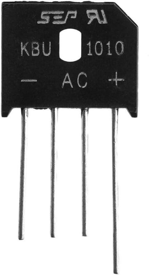 Sixsons 5Pcs KBU1010 Single Phases Diode Rectifier Bridge IC Chip 10A 1000V
