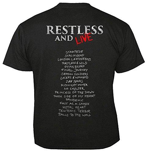 T amp; Live Black Restless Accept shirt wOt8qn