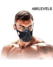 Máscara de entrenamiento Sport Capacidad vital Correr 48 Niveles de resistencia respiratoria Máscara de entrenamiento Máscara de fitness Altitud alta Correr Resistencia Respirar oxígeno Mascarilla par