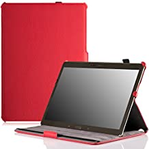 MoKo Samsung Galaxy Tab S 10.5 Case - Slim-Fit Multi-angle Folio Cover Case for Samsung Galaxy Tab S 10.5 Inch Android Tablet, RED (With Smart Cover Auto Wake / Sleep)