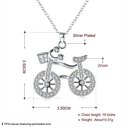 Buy bicycle necklace gold