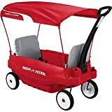 All Weather Fun Radio Flyer Deluxe Family Canopy Wagon, Red/Multicolor Finish