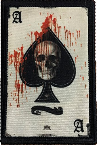 """Ace of Spades Death Card Morale Patch. Perfect for your Tactical Military Army Gear, Backpack, Operator Baseball Cap, Plate Carrier or Vest. 2x3"""" Hook and Loop Patch. Made in the USA"""