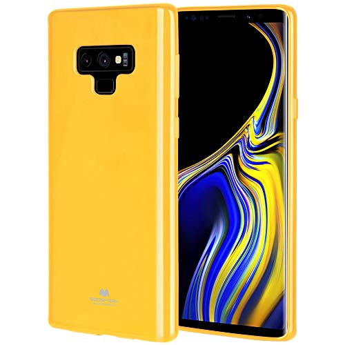 Galaxy Note 9 Case, [Slim Fit] GOOSPERY [Flexible] Pearl Jelly Rubber TPU Case [Lightweight] Bumper Cover [Protection] Samsung Galaxy Note 9 (Yellow) NT9-JEL-YEL