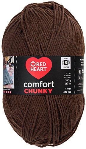 Heart Fudge (RED HEART  Comfort Chunky Yarn, Fudge)