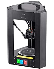 Monoprice Mini Delta 3D Printer With (110 x 110 x 120 mm) Heated Build Plate, Auto Calibration, Fully Assembled for ABS & PLA + Free MicroSD Card Preloaded With Printable 3D Models