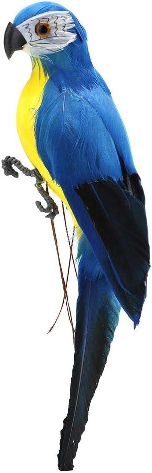 Everpert Pajaros Decorativos con Plumas, Ornamento Casero del Hogar del Modelo del Pájaro Imitación del Loro Artificial de la Espuma (B)