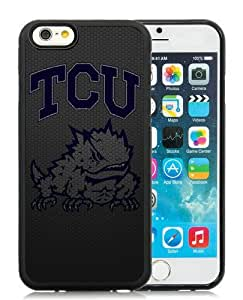 New iPhone 6S Case,NCAA Big 12 Conference Big12 Football TCU Horned Frogs 4 Black iPhone 6S TPU Phone Case